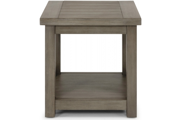 Large image of Homestyles Mountain Lodge Gray End Table - 5525-20