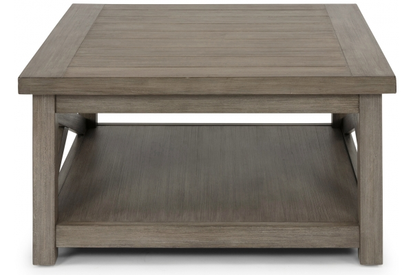 Large image of Homestyles Mountain Lodge Gray Coffee Table - 5525-21