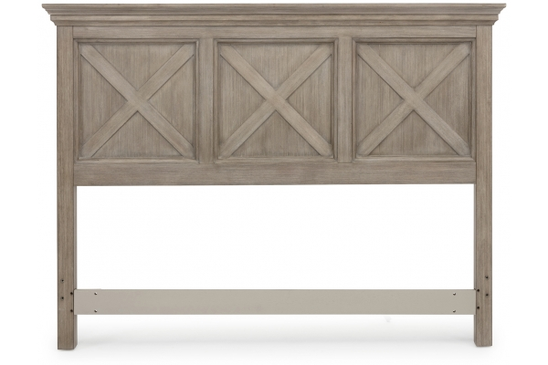 Large image of Homestyles Mountain Lodge Gray Queen/Full Headboard - 5525-501