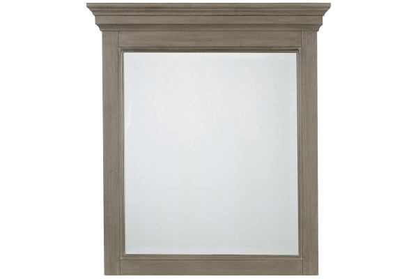 Large image of Homestyles Mountain Lodge Gray Mirror - 5525-78