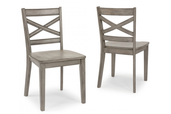Large image of Homestyles Mountain Lodge Gray Dining Chairs (Set Of 2) - 5525-80
