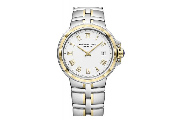 Large image of Raymond Weil Parsifal Quartz Classic White Dial Mens Watch - 5580STP00308