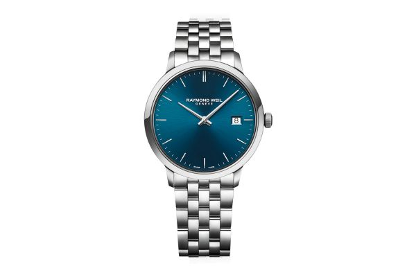 Large image of Raymond Weil Toccata Classic Steel Blue Dial Quartz Mens Watch - 5585ST50001