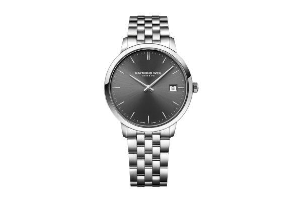 Raymond Weil Toccata Classic Steel Grey Dial Quartz Mens Watch - 5585ST60001