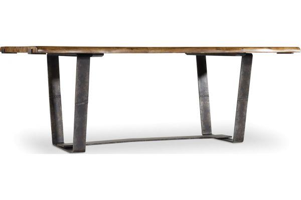 Large image of Hooker Furniture Dining Room Medium Wood Live Edge Dining Table - 5590-75200