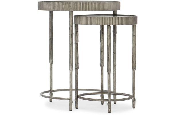 Large image of Hooker Furniture Living Room Accent Nesting Tables - 5594-50001-SLV