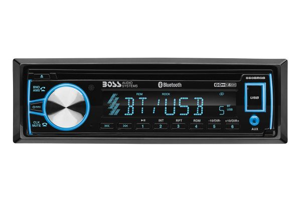 Large image of BOSS Audio Systems Elite Single DIN Car Stereo With Bluetooth & CD Player - 560BRGB