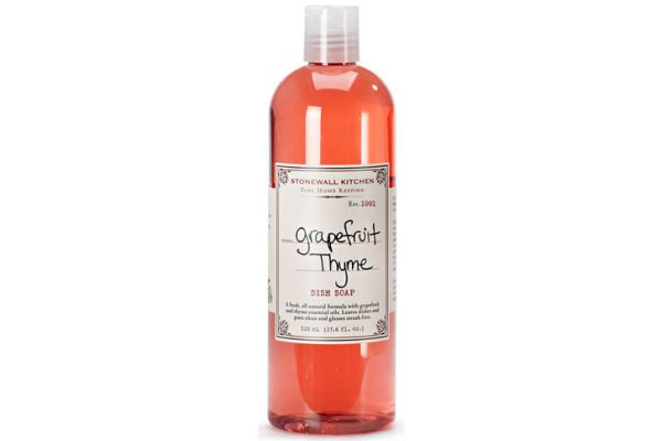 Large image of Stonewall Kitchen Grapefruit Thyme Dish Soap - 5625011