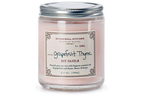 Large image of Stonewall Kitchen Grapefruit Thyme Soy Candle - 5625083