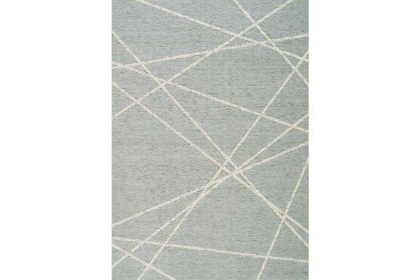 """Large image of Kalora Vista 5'3"""" X 7'7"""" Soft Blue Laser Beams Indoor/Outdoor Rug - 5626/H813 160230"""