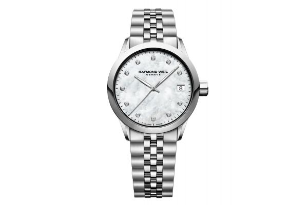 Raymond Weil Freelancer Stainless Steel Quartz Mother-of-Pearl Dial Womens Watch - 5634ST97081