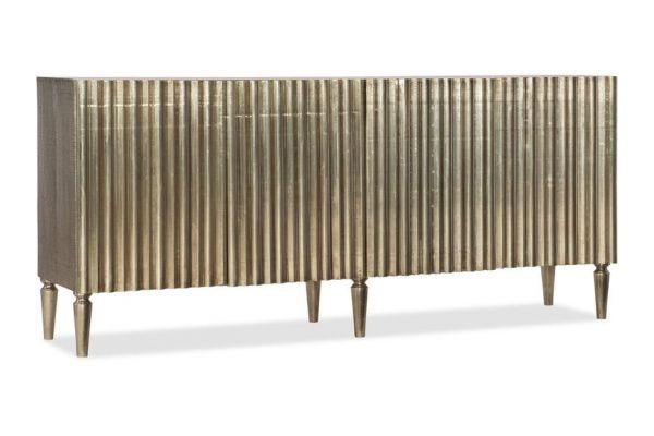 Large image of Hooker Furniture Living Room German Silver Console - 5637-85001-SLV