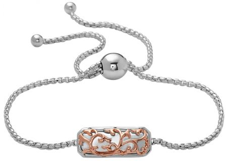 Charles Krypell Ivy Lace Two Tone Silver And Rose Gold Bracelet - 5-6973-ILSP