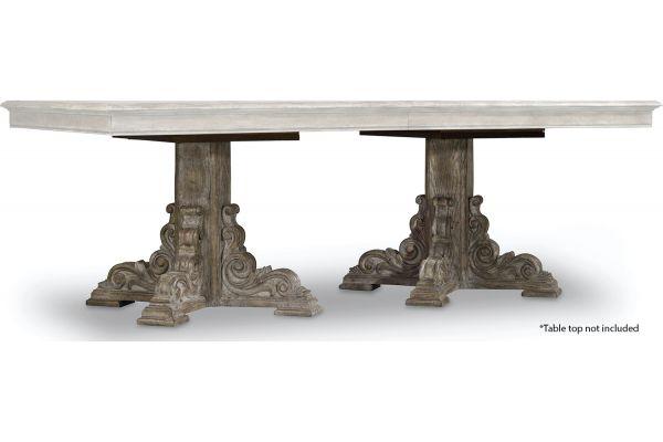 Large image of Hooker Furniture True Rectangle Vintage Dining Table Base - 5701-75003