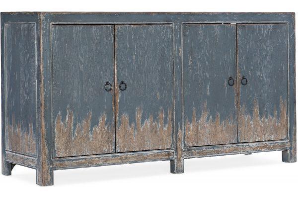 Large image of Hooker Furniture Entertainment Boheme Four Door Media Console - 5750-55460-BLU