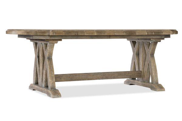 Large image of Hooker Furniture Dining Room Boheme Colibri Trestle Dining Table - 5750-75200-MWD