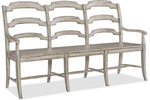 Large image of Hooker Furniture Dining Room Boheme Du Monde Ladderback Dining Bench - 5750-75315-LTWD