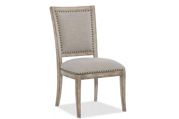 Large image of Hooker Furniture Dining Room Boheme Vitton Upholstered Side Chair - 5750-75410-LTWD
