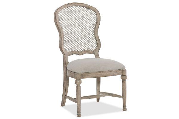 Large image of Hooker Furniture Dining Room Boheme Gaston Metal Back Side Chair - 5750-75411-LTWD