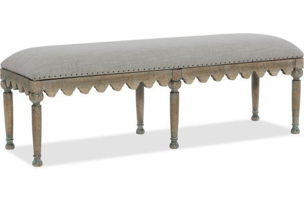 Large image of Hooker Furniture Bedroom Boheme Madera Bed Bench - 5750-90019-MWD