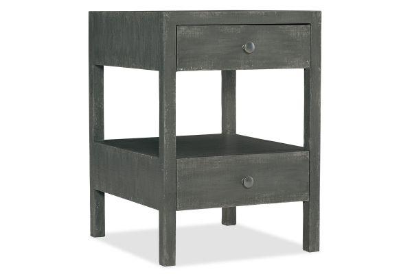 Large image of Hooker Furniture Bedroom Boheme Brussels Two-Drawer Nightstand - 5750-90115-BLU