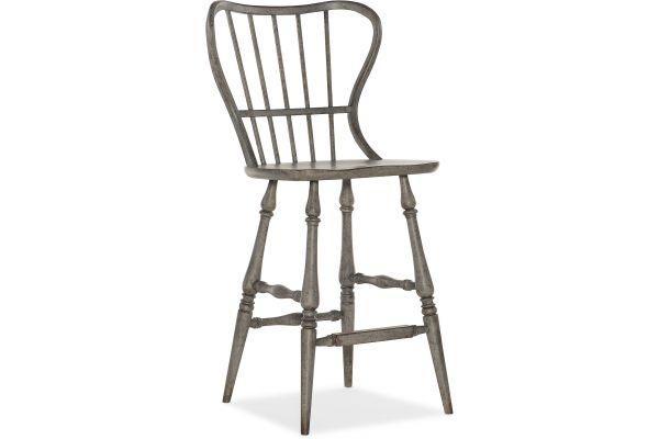 Large image of Hooker Furniture Dining Room Ciao Bella Spindle Back Bar Stool - 5805-75361-96