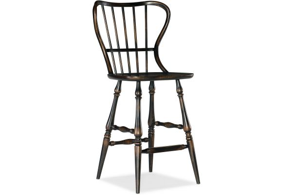 Large image of Hooker Furniture Dining Room Ciao Bella Spindle Back Bar Stool - 5805-75361-99