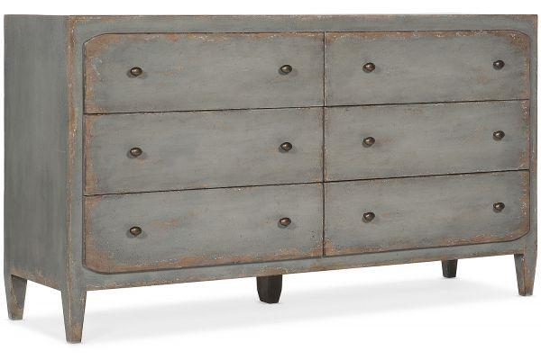 Large image of Hooker Furniture Bedroom Ciao Bella Six-Drawer Dresser - 5805-90002-95