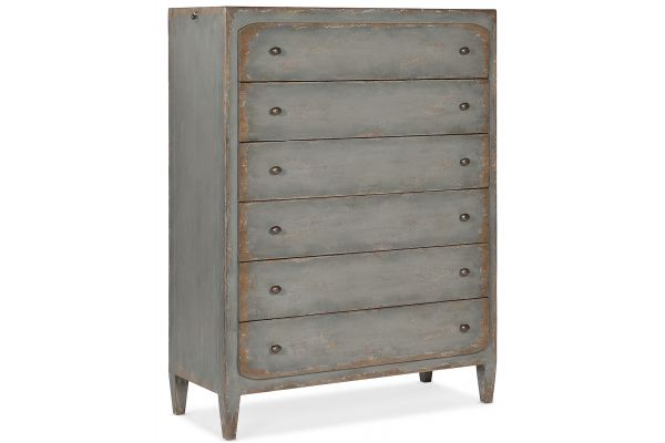 Large image of Hooker Furniture Bedroom Ciao Bella Six-Drawer Chest - 5805-90010-95