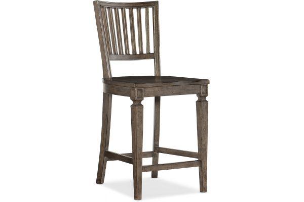 Large image of Hooker Furniture Dining Room Woodlands Counter Stool - 5820-75350-84