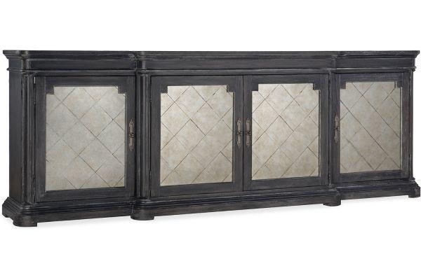 Large image of Hooker Furniture Living Room Woodlands Four-Door Credenza - 5820-85002-647