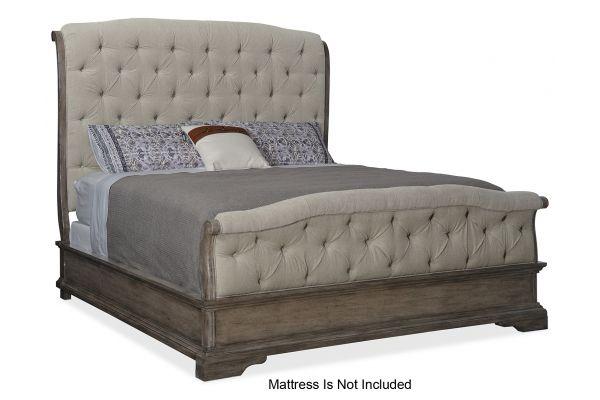 Large image of Hooker Furniture Bedroom Woodlands King Upholstered Bed - 5820-90866-84