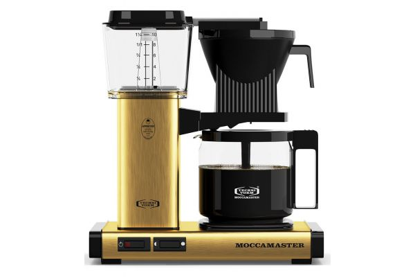 Large image of Technivorm Moccamaster Brushed Brass Coffee Maker - 59163