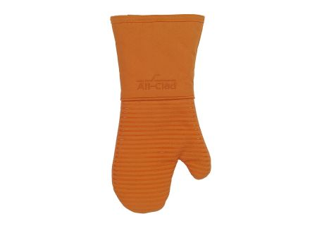 All-Clad Textiles Tangerine Premium Silicone Cotton Oven Mitt - 59226