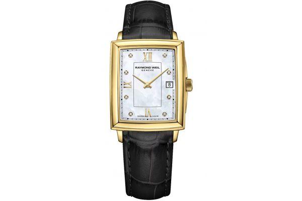 Large image of Raymond Weil Toccata Square Gold Diamond Quartz Womens Watch - 5925PC00995