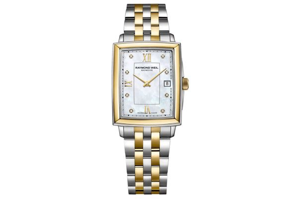 Large image of Raymond Weil Toccata Ladies Two-Tone Diamond Quartz Watch - 5925STP00995