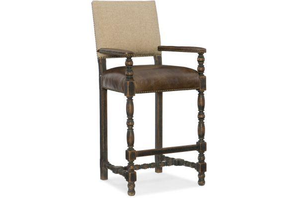 Large image of Hooker Furniture Dining Room Comfort Barstool - 5960-20360-BLK