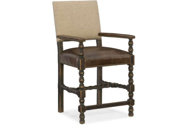 Large image of Hooker Furniture Dining Room Comfort Counter Stool - 5960-25350-BLK