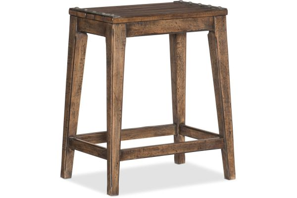 Large image of Hooker Furniture Dining Room Hill Country Medina Lake Backless Counter Stool - 5960-25350A-BRN