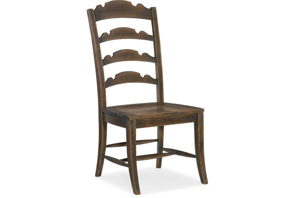 Large image of Hooker Furniture Dining Room Twin Sisters Ladderback Side Chair - 5960-75310-BRN
