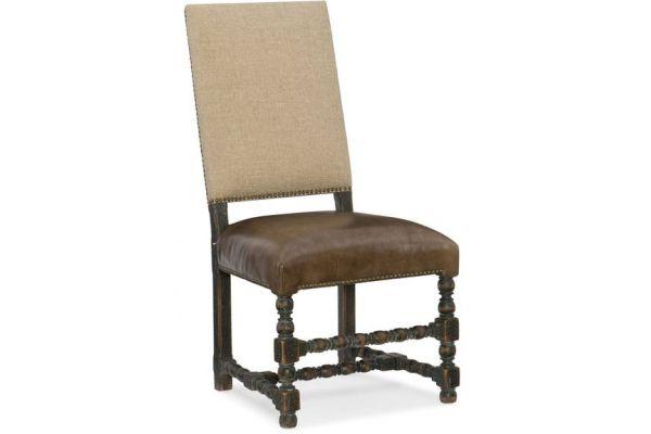Large image of Hooker Furniture Dining Room Comfort Upholstered Side Chair - 5960-75410-BLK