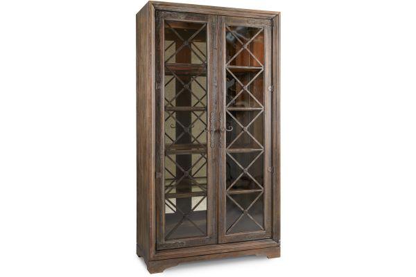 Large image of Hooker Furniture Dining Room Sattler Display Cabinet - 5960-75906-MULTI
