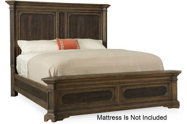 Large image of Hooker Furniture Bedroom Woodcreek King Mansion Bed - 5960-90266-MULTI