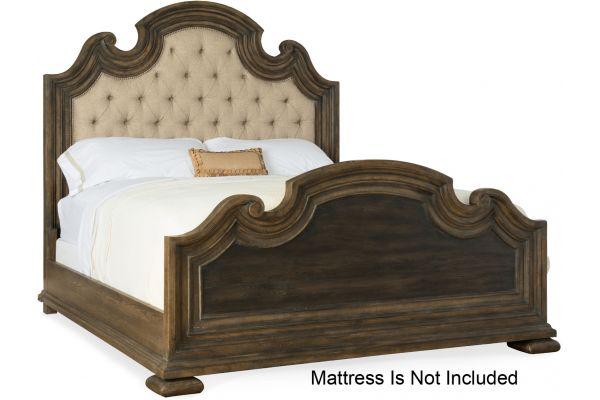 Large image of Hooker Furniture Bedroom Fair Oaks Queen Upholstered Bed - 5960-90850-MULTI