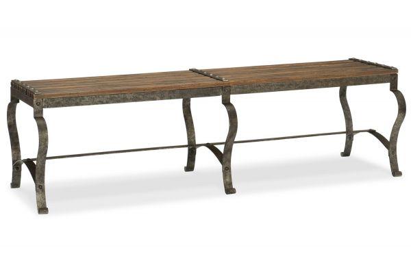 Large image of Hooker Furniture Hill Country Ozark Bed Bench - 5960-90019-MTL