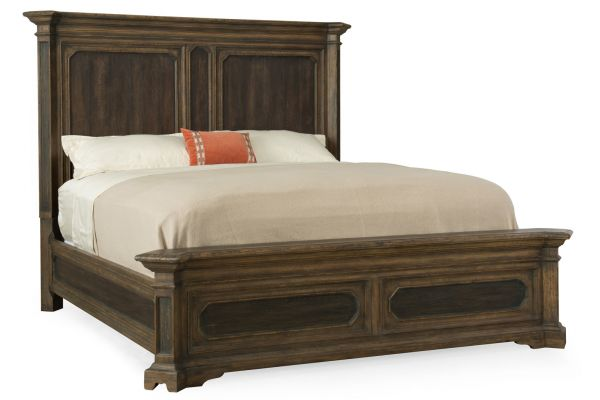 Large image of Hooker Furniture Woodcreek Queen Mansion Bed - 5960-90250-MULTI