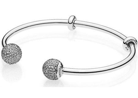 PANDORA Clear CZ Open Bangle Bracelet - 596438CZ2