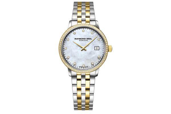 Large image of Raymond Weil Toccata Ladies Two-Tone Gold Diamond Quartz Watch - 5985SPS97081