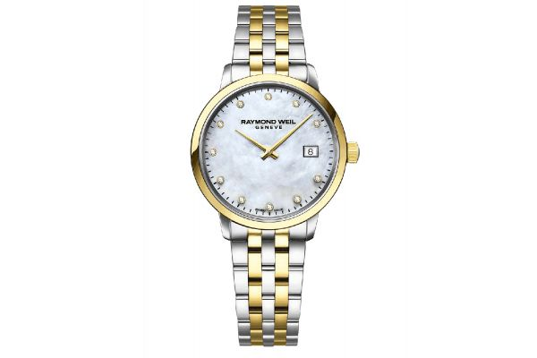 Large image of Raymond Weil Toccata Two-tone Gold Diamond Quartz Ladies Watch - 5985STP97081