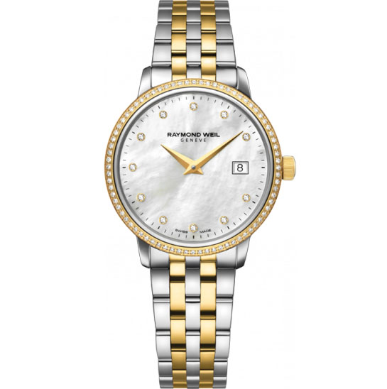 raymond weil toccata two tone womens 5988sps97081